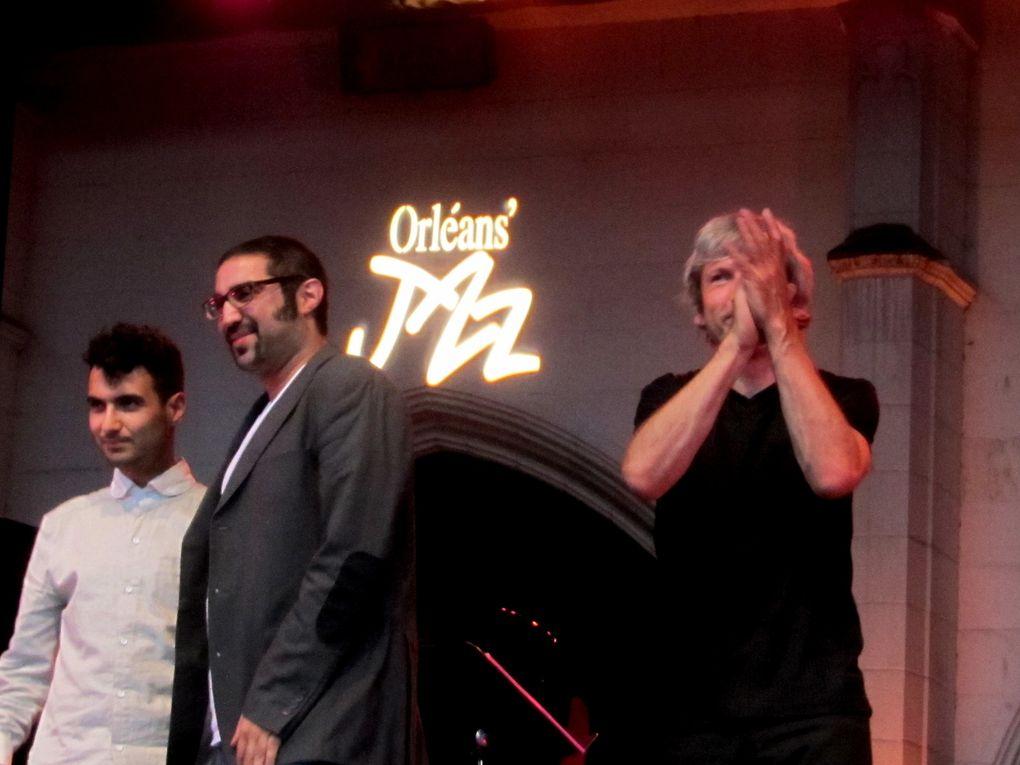 Festival Orléans's Jazz 2012 : Stéphane Kochoyan et les programmateurs associés Jean-louis Derenne et Gérard Bedu - Concerts, expositions - Place de Loire Loire - Hôtel Groslot - Campo Santo