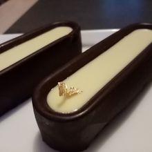 Brownie dans sa coque au chocolat
