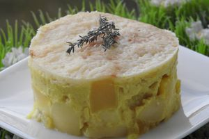 GRATIN DE PATISSON, COURGETTE, POMME DE TERRE AU CURRY (thermomix)