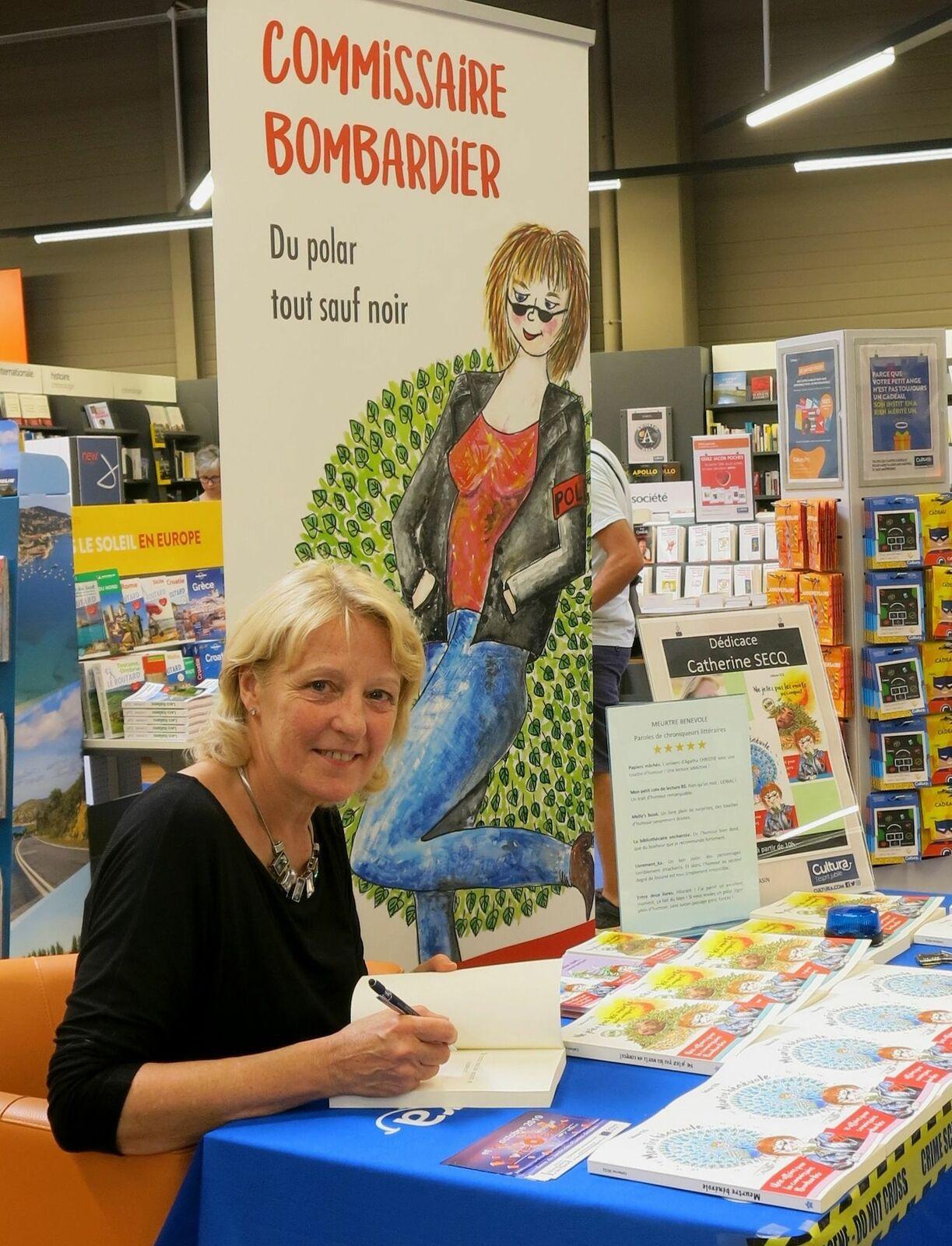 Portrait du jour - Catherine Secq «l'auteure aux fleurs» et de la commissaire Josiane Bombardier