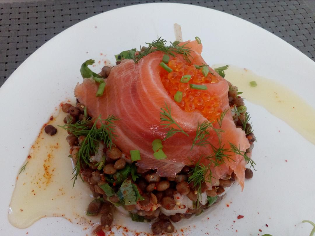 Salade de lentilles au saumon 🐟