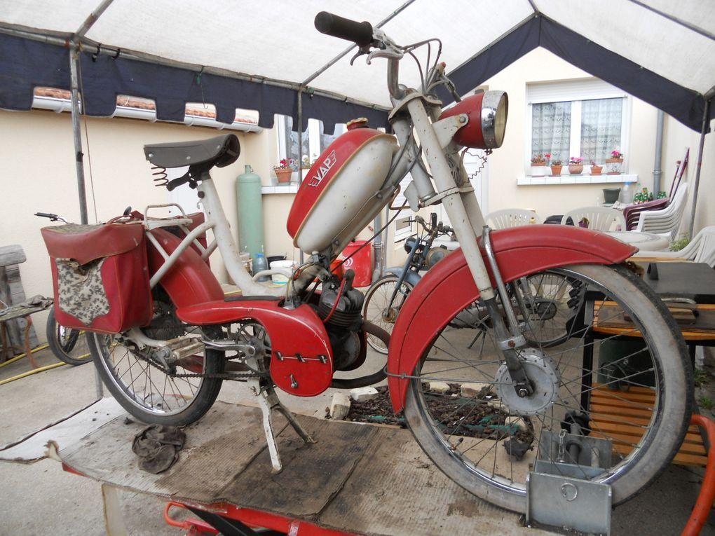 Vap 57 MG1 du  Année : 1959 N° moteur : 46....... N° cadre : 69...... Carburateur :