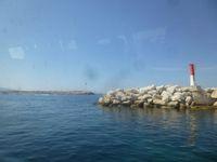 Marseille, navette pour l'Estaque, départ du petit port, arrivée Marseille, Fort St Nicolas, Cl. Elisabeth Poulain