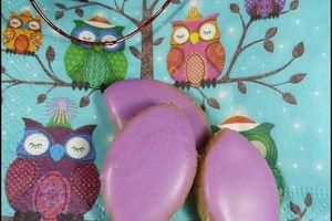 Calissons à la violette & à la réglisse