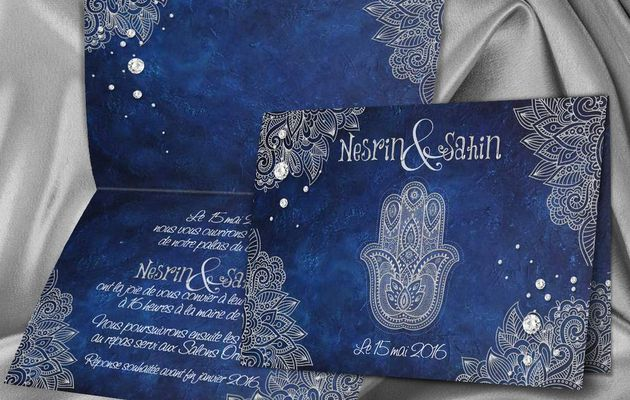 Mariage du bleu nuit avec l'argent ou doré, pour un thème oriental et chaleureux