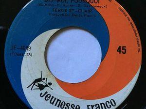 """serge st-clair, un obscur chanteur français des années 1960 et son hit immémorable """"dis moi pourquoi"""""""