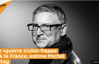 Une «guerre civile» frappe déjà la France, estime Michel Onfray