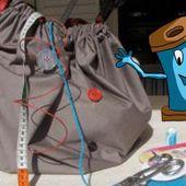 Le sac boule réversible : Un tuto tout simple pour débuter la couture.