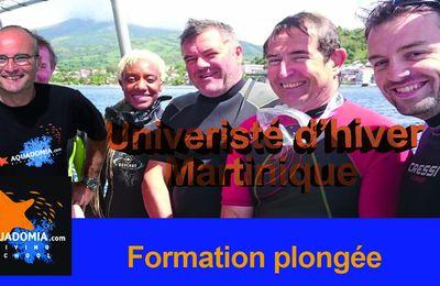 Formation plongée Martinique : Université d'hiver Aquadomia Février / Mars