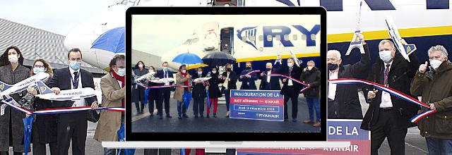 Ryanair ouvre sa nouvelle base de Paris Beauvais