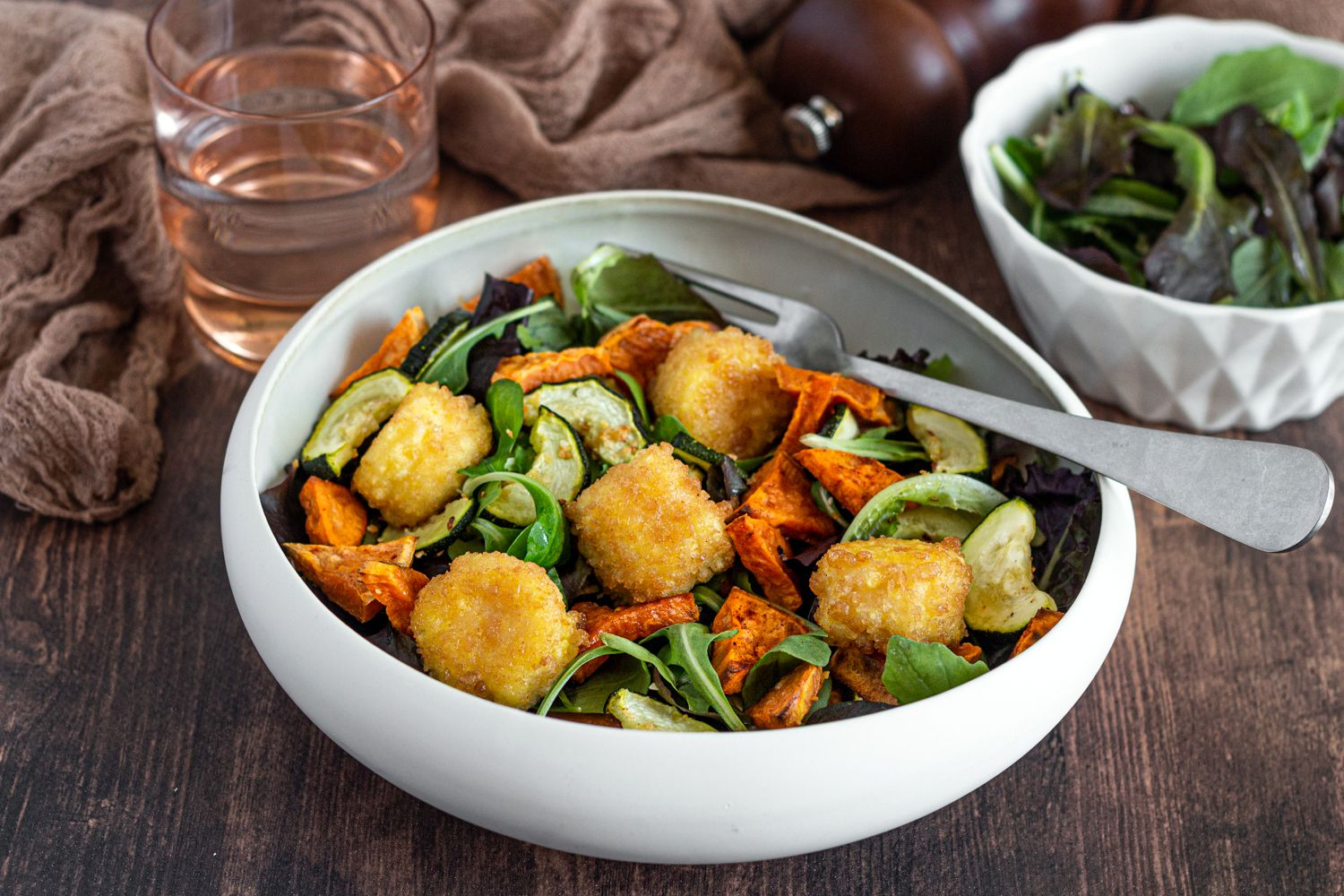 salade chèvre patate douce courgette