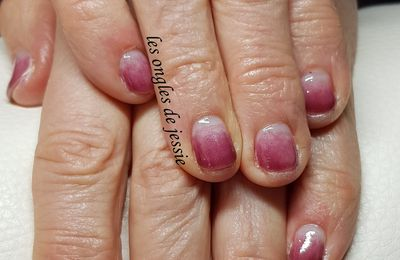babycolor bordeaux rosé nailart chat