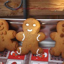 gingerbread christmas cookies ou  bonhommes en pain d'épices de Noël IG bas sans beurre,sans lait