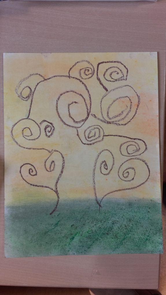 Arbre à spirales à la manière de Klimt