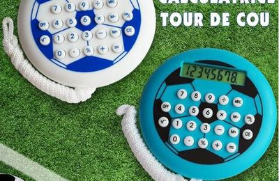 Idée cadeau publicitaire : la calculatrice football