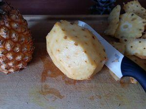 La brunoise d'ananas