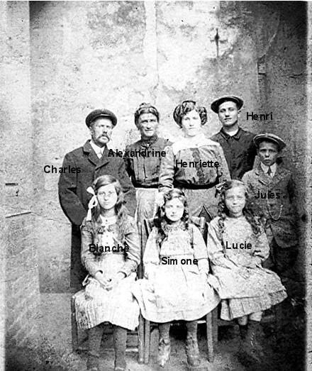 Famille Clemenceau : Yvan, son père Edmond Chéri, son grand père Pierre<br />Famille Dufour boutonniers à Méru<br />Famille Marchebout : Irma, son père Cyprien, sa mère Renée Redon