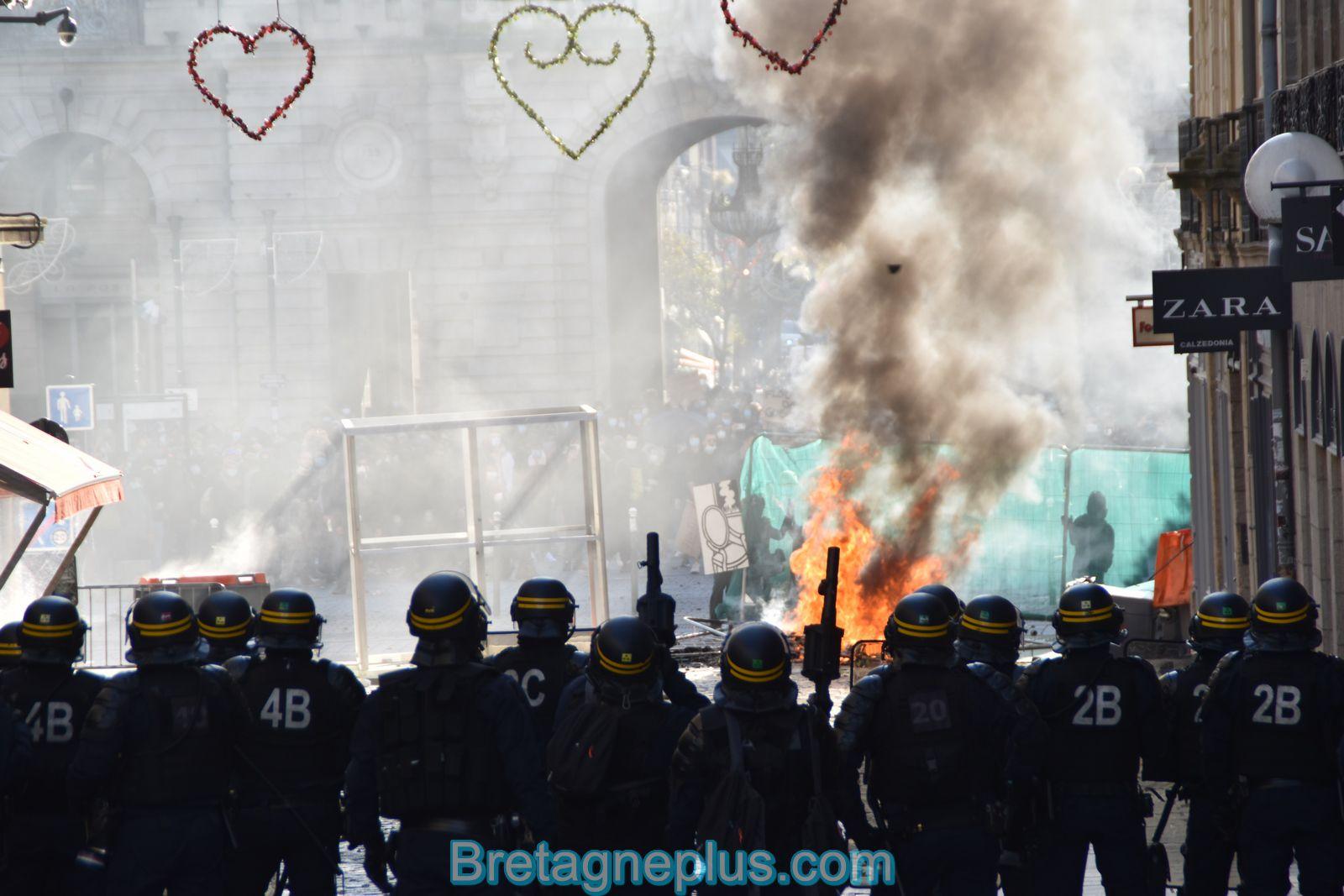 Second rassemblement à Rennes, contre la loi de sécurité Globale