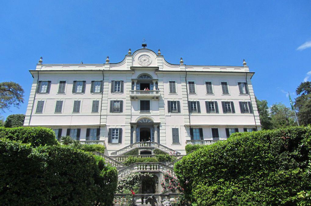 la villa Carlotta sur les bords du lac de Côme.