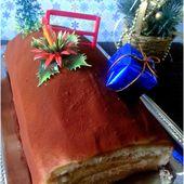 Bûche de Noël façon Tiramisu - Amandine Cooking