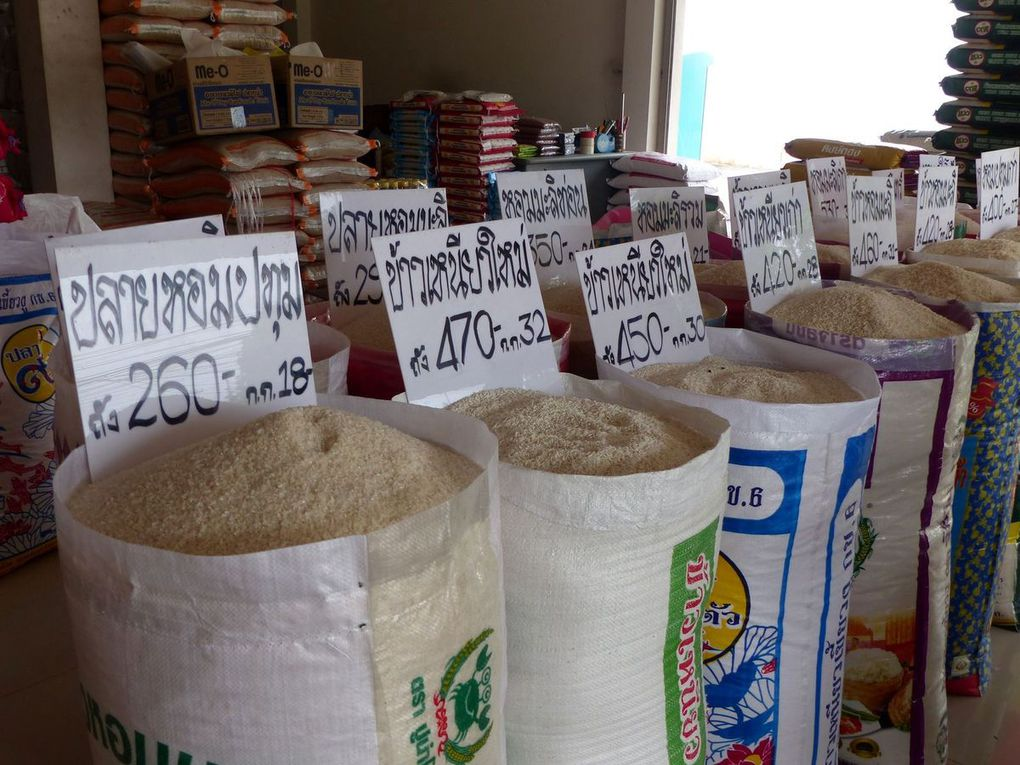 Toutes sortes de riz vendus en boutique...