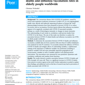 (PDF) Positive association between COVID-19 deaths and influenza vaccination rates in elderly people worldwide