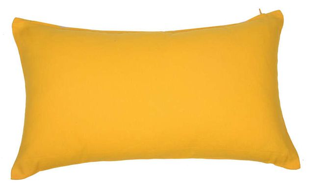 Coussin moutarde conforama