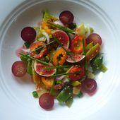 Salade sucrée salée de haricots plats