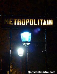 Montmartre, la nuit. En novembre.
