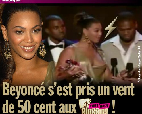 Beyoncé s'est pris un vent de 50 cent aux MTV Video Music Awards !