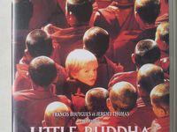 """L'album avec son cahier de coloriages et le DVD """"Little Buddha""""."""