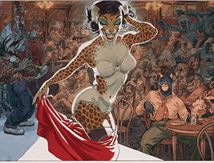 Jazz N 'Fun's Club is a poster series Blacksad conducted by Juanjo Guarnido and Diaz-Canalès