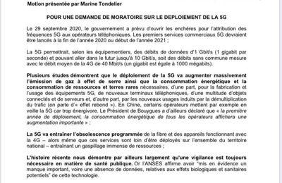 Conseil municipal du 9 octobre 2020 : une motion déposée par le groupe Osons pour Hénin-Beaumont pour un moratoire sur le 5G