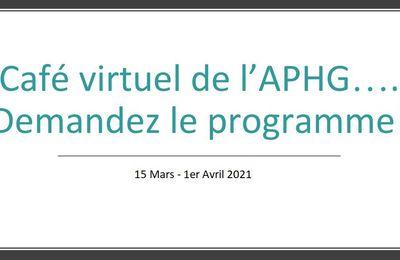 Cafés virtuels de l'APHG : les prochains rendez-vous du 15 mars au 1er avril 2021