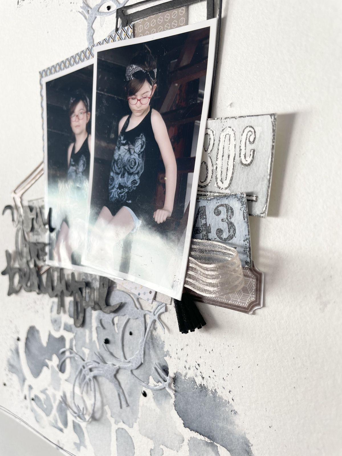 Marilyne : Pages  challenge du scrapbooking day