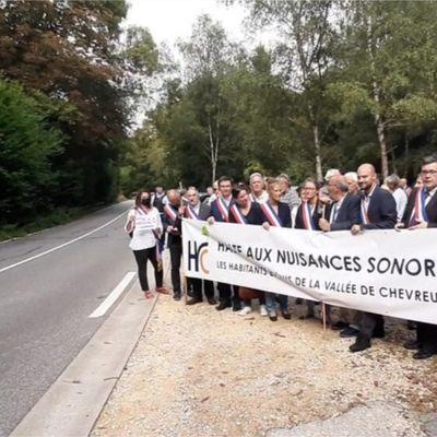 Mobilisation des élus contre les nuisances sonores sur les routes de la Vallée de Chevreuse.