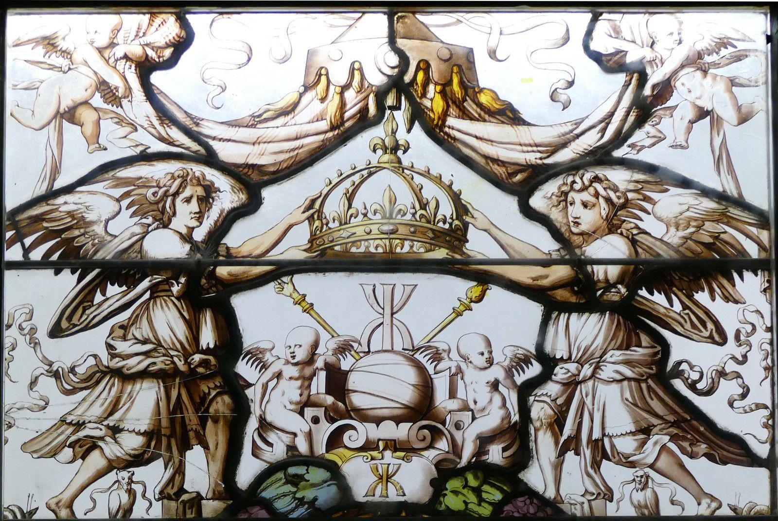 Vitraux du Musée de la Renaissance d'Écouen. Photographie lavieb-aile.
