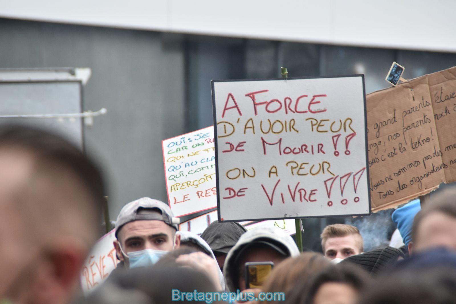 La manifestation rennaise contre la loi de sécurité globale se termine en rave party
