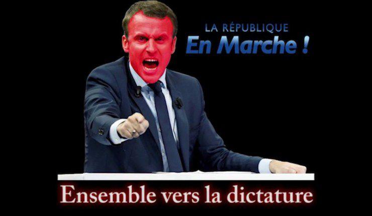 Macron annonce que nous vivons bien sous une dictature (vidéo)