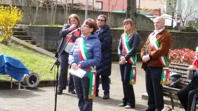 8 aprile 2018: a Sestri Levante a ricordo dei partigiani caduti nell'entroterra, tra cui il lissonese Arturo Arosio