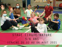 Stage Nature/Cirque-5/6 ans-Du 02 au 06 août 2021