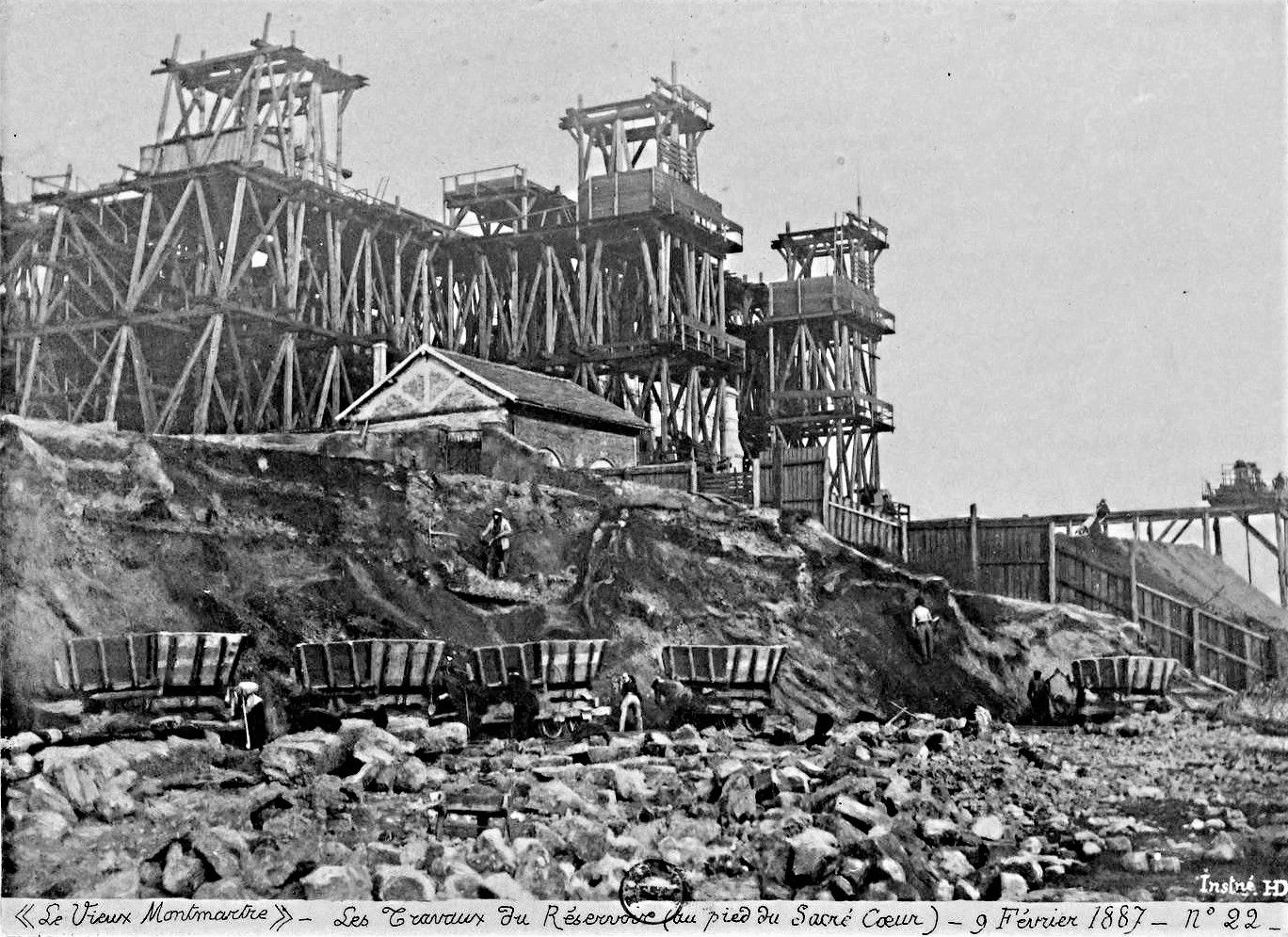 Construction du réservoir (1887)
