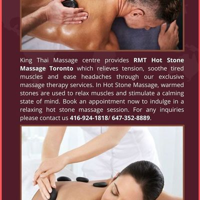 RMT Hot Stone massage Toronto package available on offer price - King Thai massage