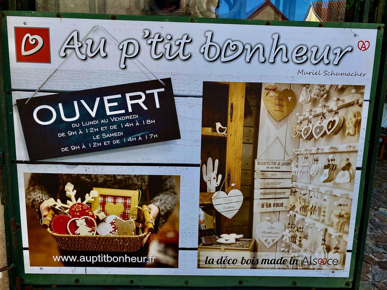 Décorations artisanales en bois Noël et Alsace - Au p'tit Bonheur