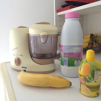 Milk Shake banane pour bébé .