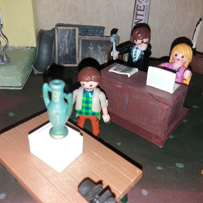 Hotel des Ventes avec les Playmobils