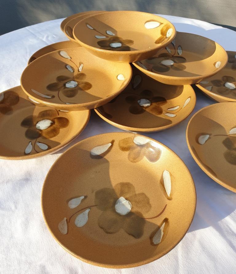 Set 12 assiettes creuses D20,5 Nadège 1970 Sarreguemines - 32 euros