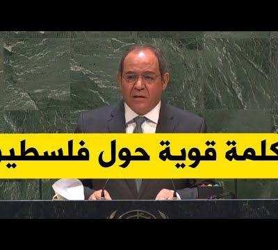 الجزأئر تناصر فلسطين في الأمم المتحدة