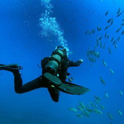 Positions en plongée sous-marine