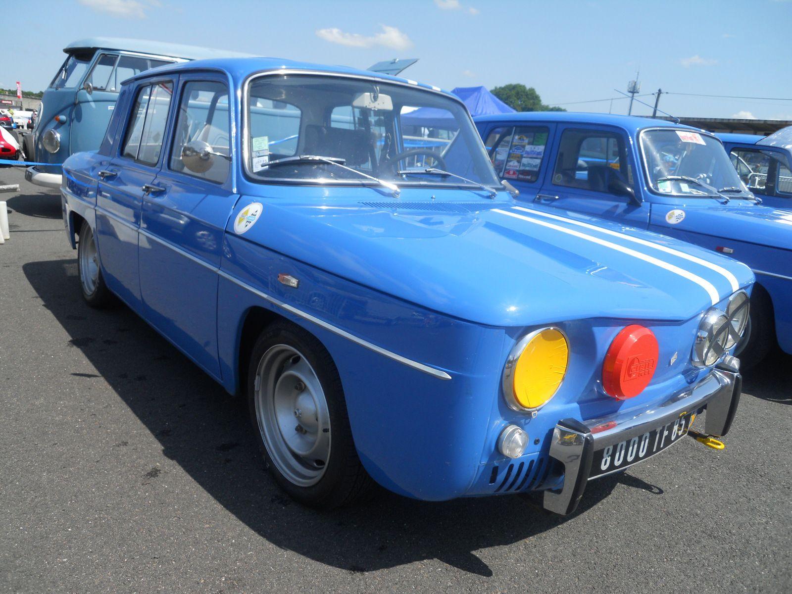 1100 et 1300 Bleue et bandes blanches - RENAULT 8 GORDINI septembre 1964 - mai 1970